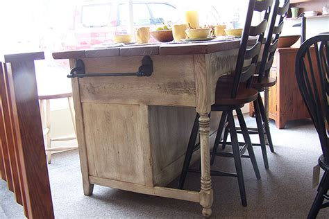 custom designed kitchen islands made from reclaimed wood