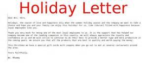 Christmas Gift Letter Sample - business letter holiday samples business letters
