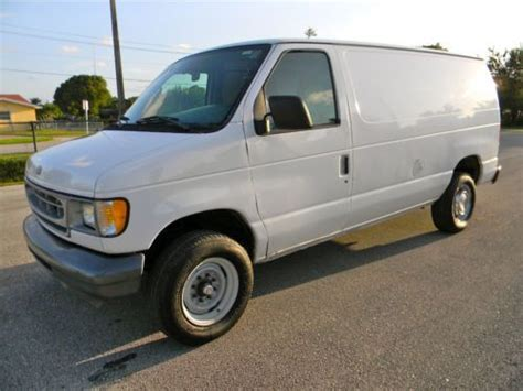 how do cars engines work 2001 ford econoline e350 engine control buy used 2001 ford e250 e350 cargo utility service work van econoline only 81k miles in