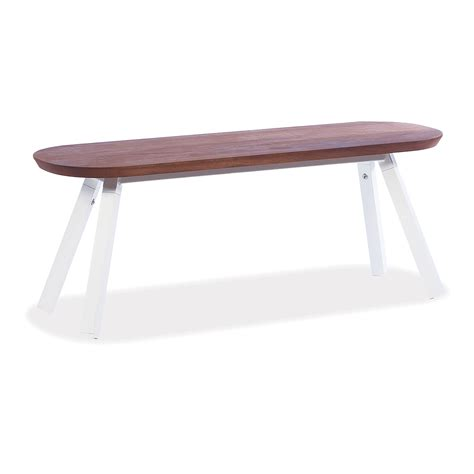 bench games white outdoor game table bench 47 in iroko wood