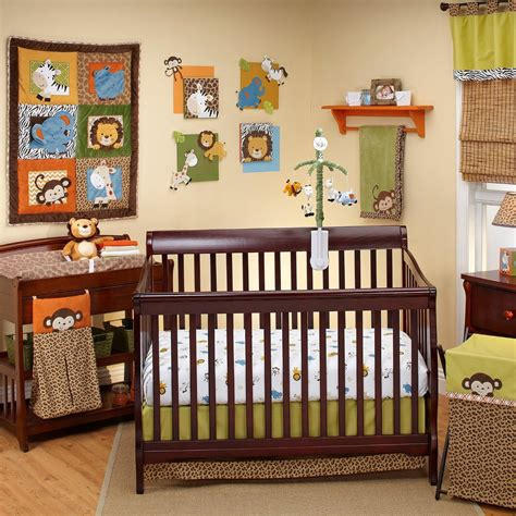 Green And Brown Monkey Crib Bedding Green And Brown Monkey Crib Bedding New Brown Green Monkeys Baby Boy Crib Bedding Nursery Set