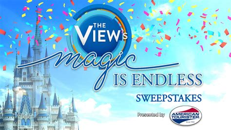 Abc The View Sweepstakes - abc s the view to broadcast from animal kingdom sweepstakes winners will win trips