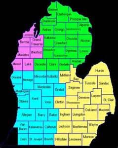 southeast michigan county map michigan map