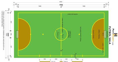dimensiones pista futbol sala imagenes de la cancha de futbol sala