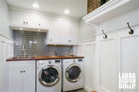 Designing Kitchen Cabinets by Laundry Room Amp Mudroom Renovation Novi Mi Labra Design Build