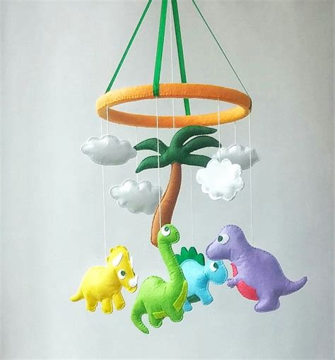 Baby Boy Crib Mobiles Dinosaur Baby Crib Mobile Nursery Decor Felt Mobile Hanging