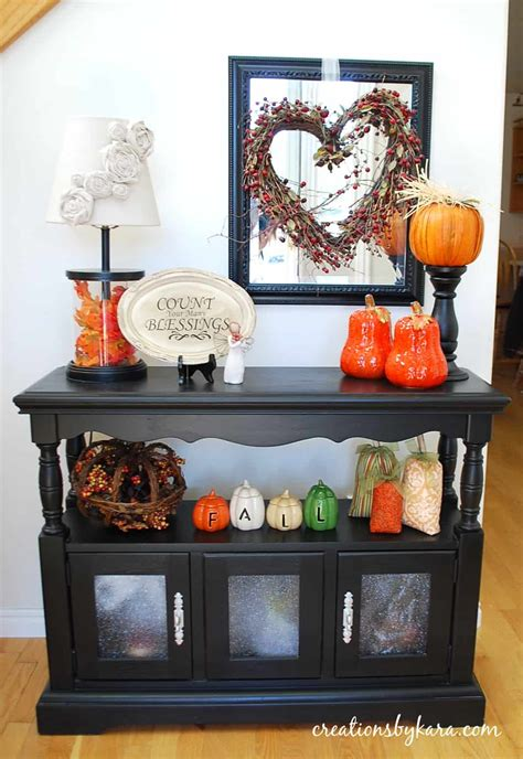 entry way table decorating fall decorating ideas entryway table decor