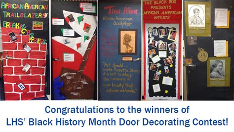 Home Decor From Around The World by Black History Month Door Decorating Contest Lafayette