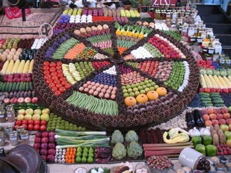 produce vegetables and fruit display supermarket art produce displays visual merchandising