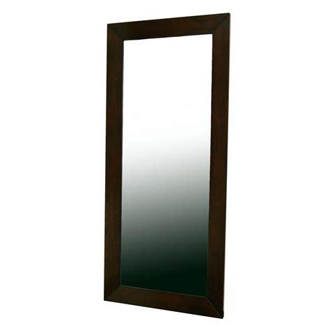 baxton studio daffodil floor mirror in light cappuccino hardwood frame