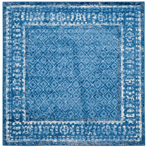 Blue Square Rug by Safavieh Adirondack Light Blue Blue 8 Ft X 8 Ft Square Area Rug Adr110f 8sq The Home Depot