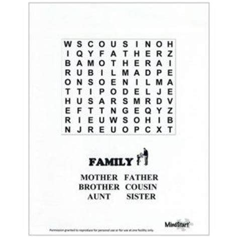printable puzzles for alzheimer s patients search results for large print easy word searches for