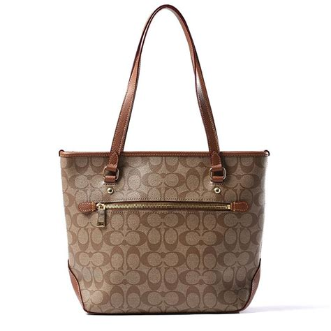Tas Coach Signature Shooping Tote City Zip Bags 2in1 3025 3 coach signature logo brown city zip top black tote bag on