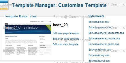 tutorial joomla css joomla 1 7 help how to edit template css files cmsmind