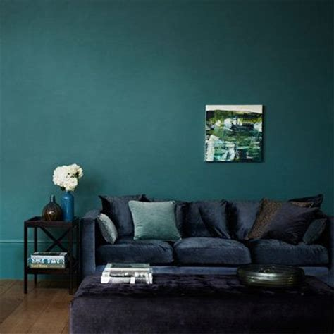 zoffany teal walls and navy sofa like home decor velvet living rooms and