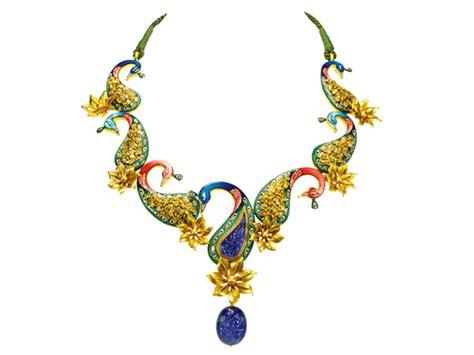 design jewellery peacock necklace jewellery designs
