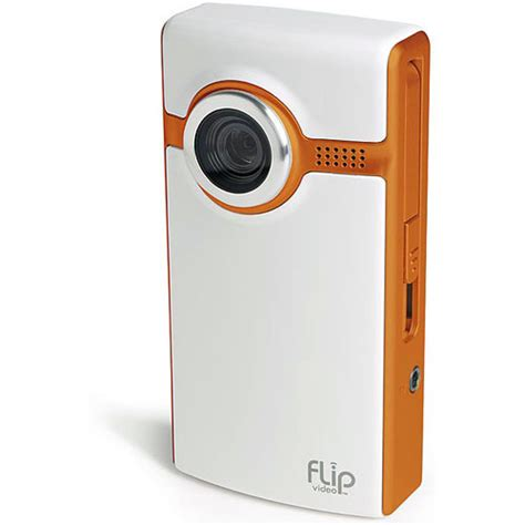 ultra flip flip flip ultra camcorder orange f260n b h photo