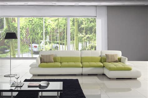 green and white sofa t217 white and green leather sectional sofa