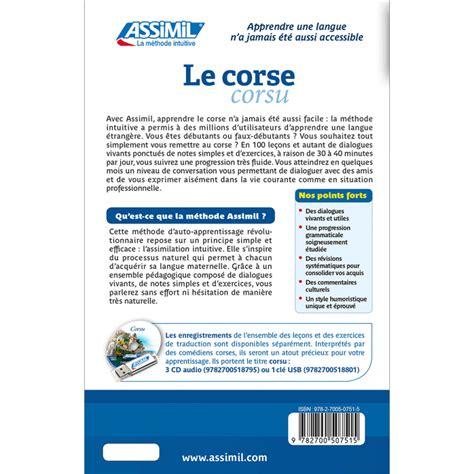 Le Corse Apprendre Le Corse En Livre Assimil