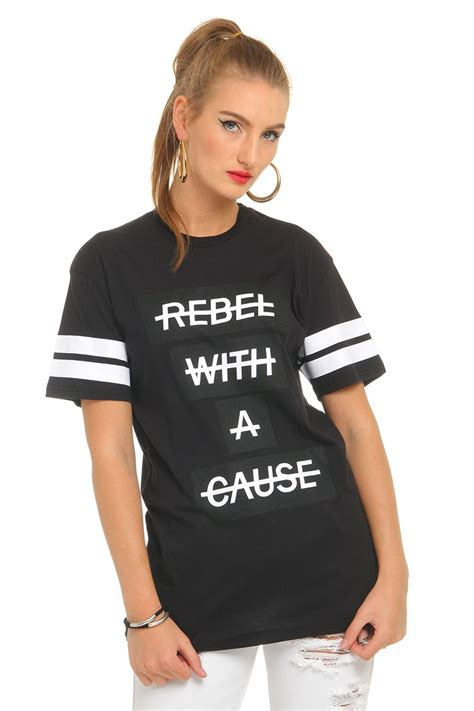 The Rebel With A Cause by Svart T Shirt Rebel With A Cause Madlady Se