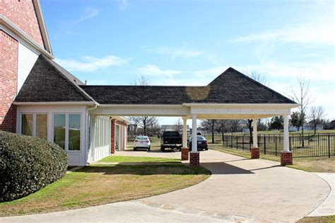 House Porch Designs by Covered Living Area Amp Carport Extension Denton County