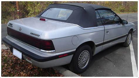 89 chrysler lebaron 1987 89 chrysler lebaron convertible tops and convertible