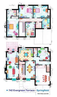 simpsons house floor plan house plans on apartment floor plans floor plans and tv shows