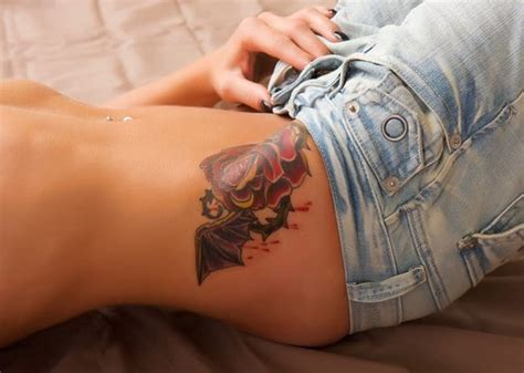 rose tattoo on pelvis creativefan