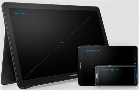 largest android tablet 187 samsung unveils the galaxy view tablet the largest android mobile device on the market