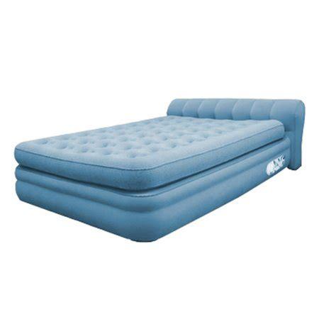 aerobed elevated mini headboard air bed mattress walmart
