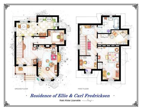 Chateau Rv Floor Plans by Famous Television Show Home Floor Plans Hiconsumption