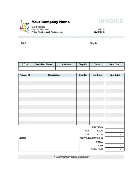 business format template business invoice template free invoice exle