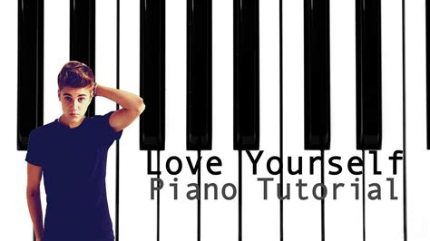 tutorial dance love yourself love yourself piano tutorial youtube