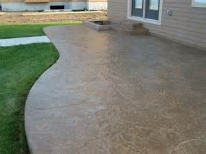 Concrete Stamped Patio by Excavating And Concrete Construction Contractor In Lake