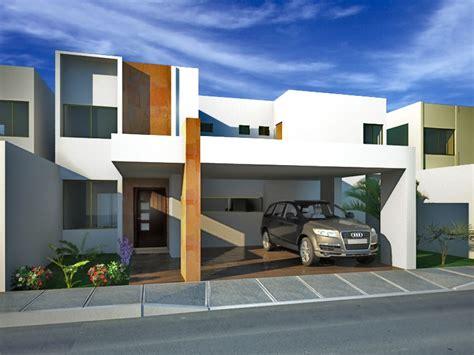 fachadas minimalistas residencia minimalista con cochera - Cocheras Minimalistas
