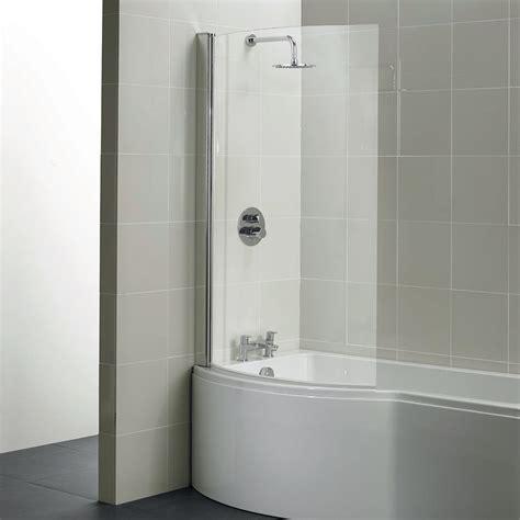 santorini cm shower  bath screen bath screens