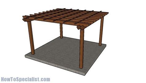 pergola design howtospecialist how to build step by 12x12 pergola free diy plans howtospecialist how to
