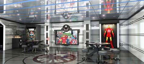 Home Theatre Interior Design by Marvel S The Avengers Get Interactive Aboard Disney Magic
