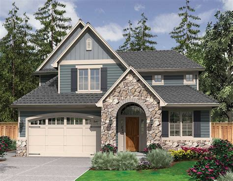 starter home plan with country charm 6990am