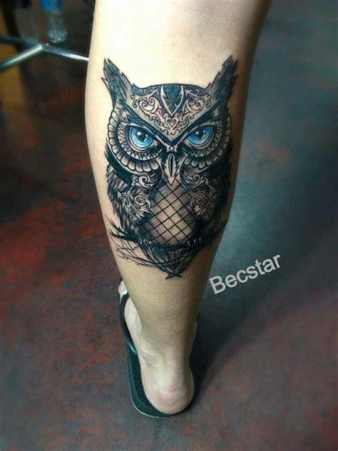 blue owl tattoo on leg tattoo designs pinterest 200 best images about tattoos on pinterest sister