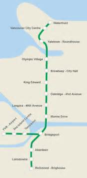 canada line stations map 温哥华机场outlet 附近景点