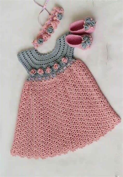 Pinterest Pattern Baby | see that beautiful dress for girls pink crochet yarn
