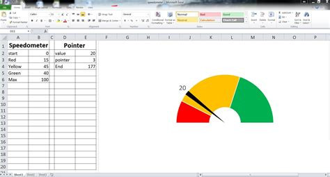 excel gauge chart template exltemplates gt gt 22 beaufiful