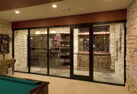 wine cellar with glass door mediterranean wine cellar