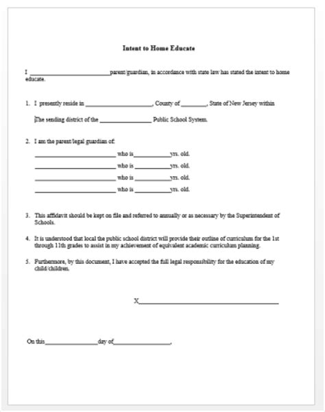 Letter Of Intent Homeschool New York planners transcripts report card forms calendars