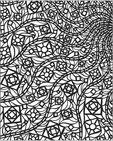 mosaic coloring 6 colouring pages pinterest stains