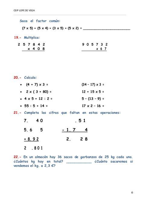 cuaderno de repaso matem 225 ticas de primero ejercicios de repaso de matem ticas de 1 a 4 de eso con actividades de repaso matem 225 ticas 5 186