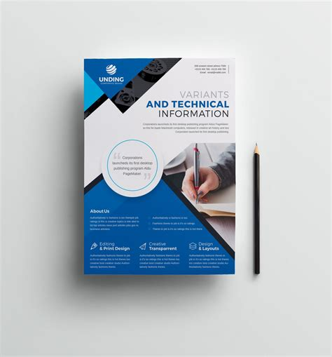 Classic Professional Business Flyer Design Template 001512 Template Catalog Flyer Design Template