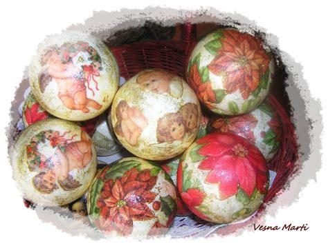 Decoupage Balls - balls decoupage my creative works