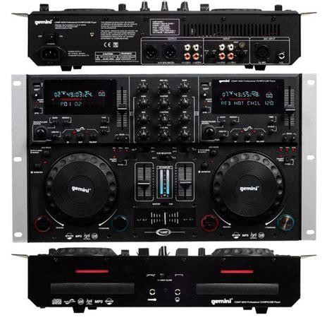 gemini console gemini cdmp 6000 mixer e 2 cd player dj console